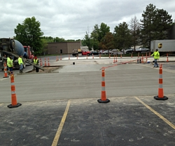 Parking lot concrete contractor Cleveland, Mentor, Solon, South Euclid, Euclid, Wickliffe, Willoughby, Beachwood, Mayfield, Strongsville, Bedford, Lyndhurst, Westlake, Chardon